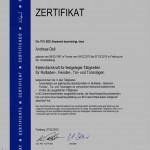 Zertefikat Fachkraft Elektro 2013
